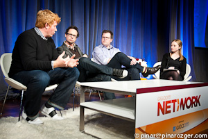 Yahoo's Luke Beatty, Trada's Niel Robertson, Klout's Matt Thomson, and GigaOM's Colleen Taylor at Net:Work 2011