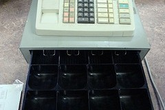 empty cash register