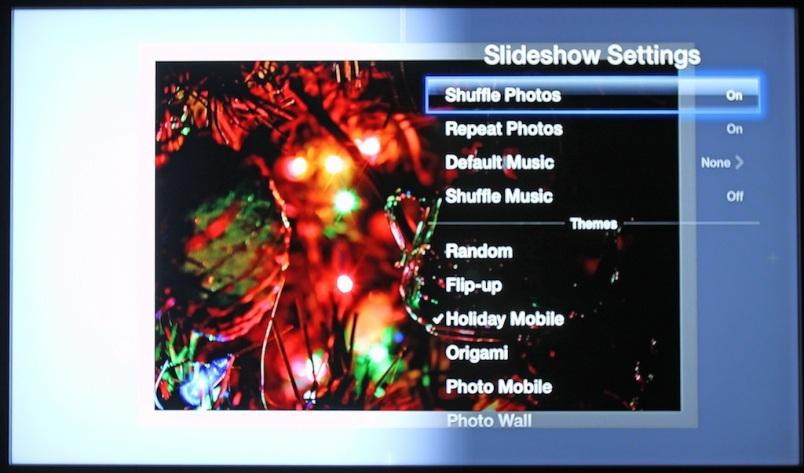 AppleTV Holiday Mobile Slideshow