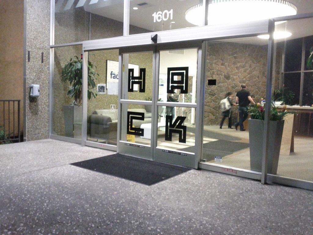 Door to 1601 California Street during Hackathon 28