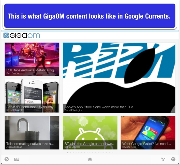 GigaOM-in-Google-Currents