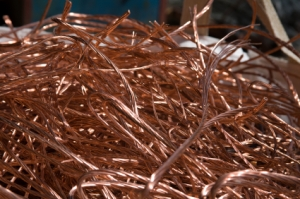 copper cable scrap metal recycled