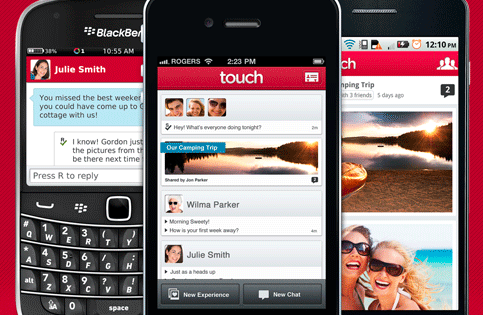 touch app blackberry iphone android