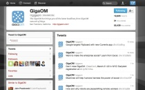 GigaOM's user profile page in Twitter's redesign (click to enlarge)