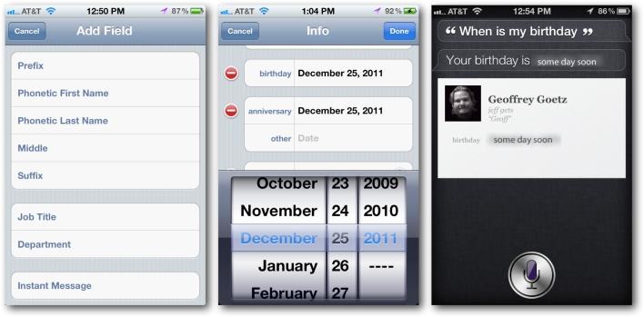Siri Important Dates