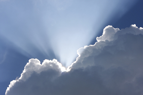 sun beam clouds