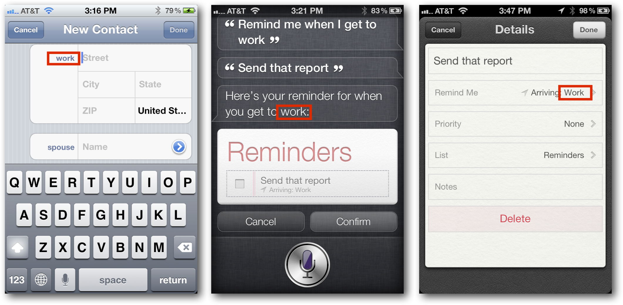 Take Siri to Work