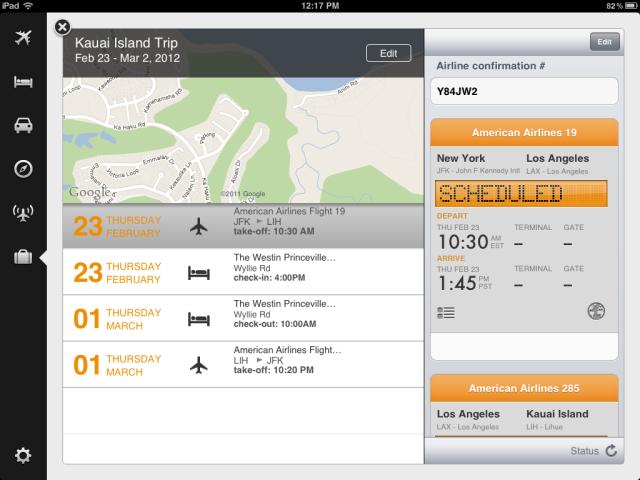Trips - iPad