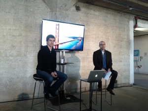 Jack Dorsey and Dick Costolo, Dec. 8 2011
