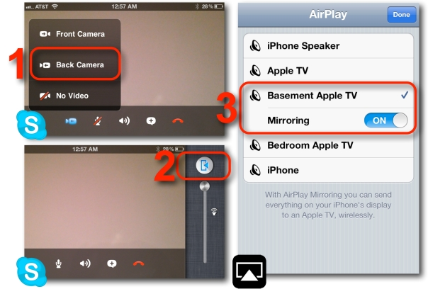 AirPlay Mirroring in Skype