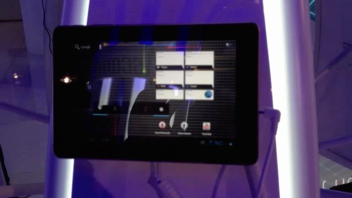 CES Video: Huawei's Android 4.0 tablet hands on Thumbnail