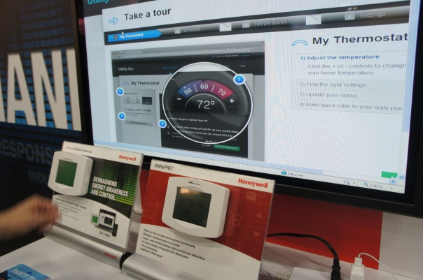 Honeywell & Opower smart thermstat website