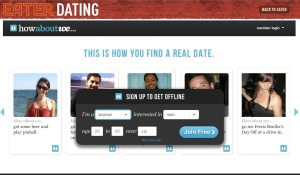 Screenshot of Eater Dating (click to enlarge)