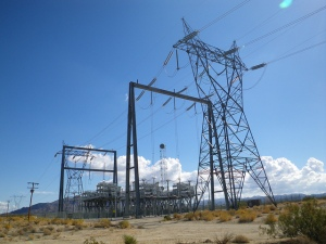 Electric grid substation