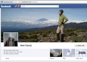 NBC anchor Ann Curry's Facebook page