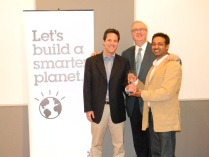 Localytics Wins SmartCamp New York - photo with Jim Corgel