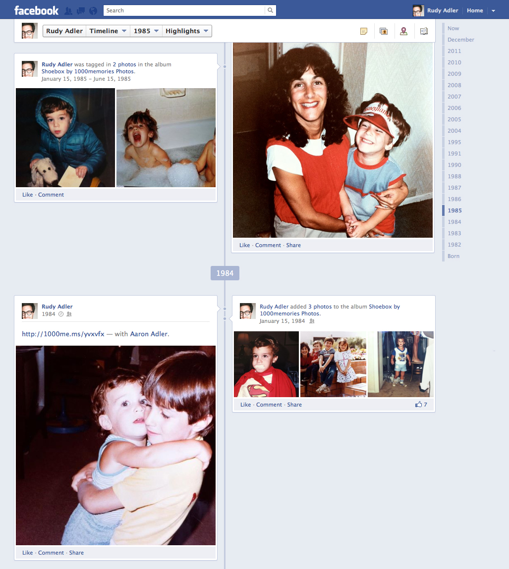 ShoeBox uploads in Facebook Timeline (click to enlarge)