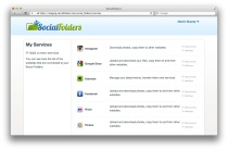 Screenshot of SocialFolders' web app (click to enlarge)