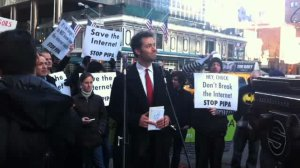 SOPA protests in New York