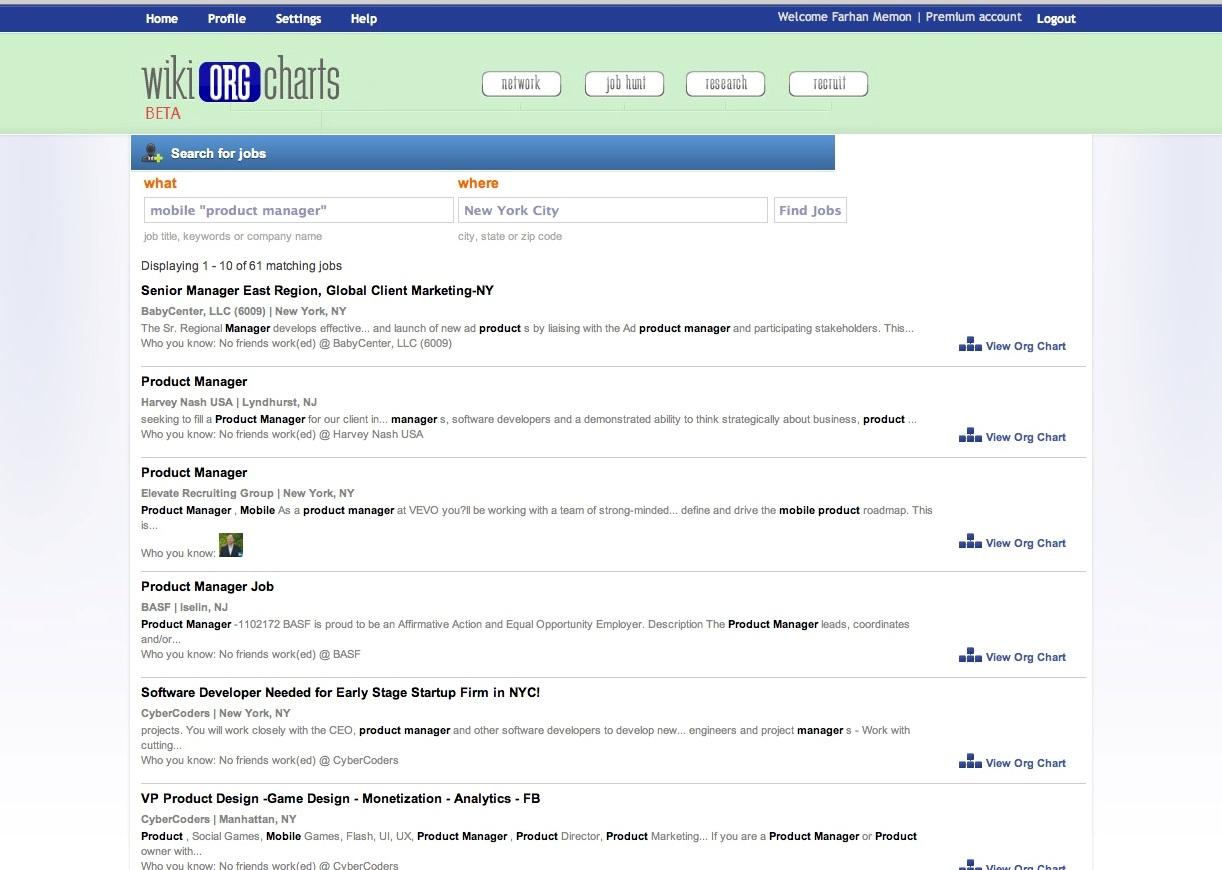 WikiOrgCharts Screenshot