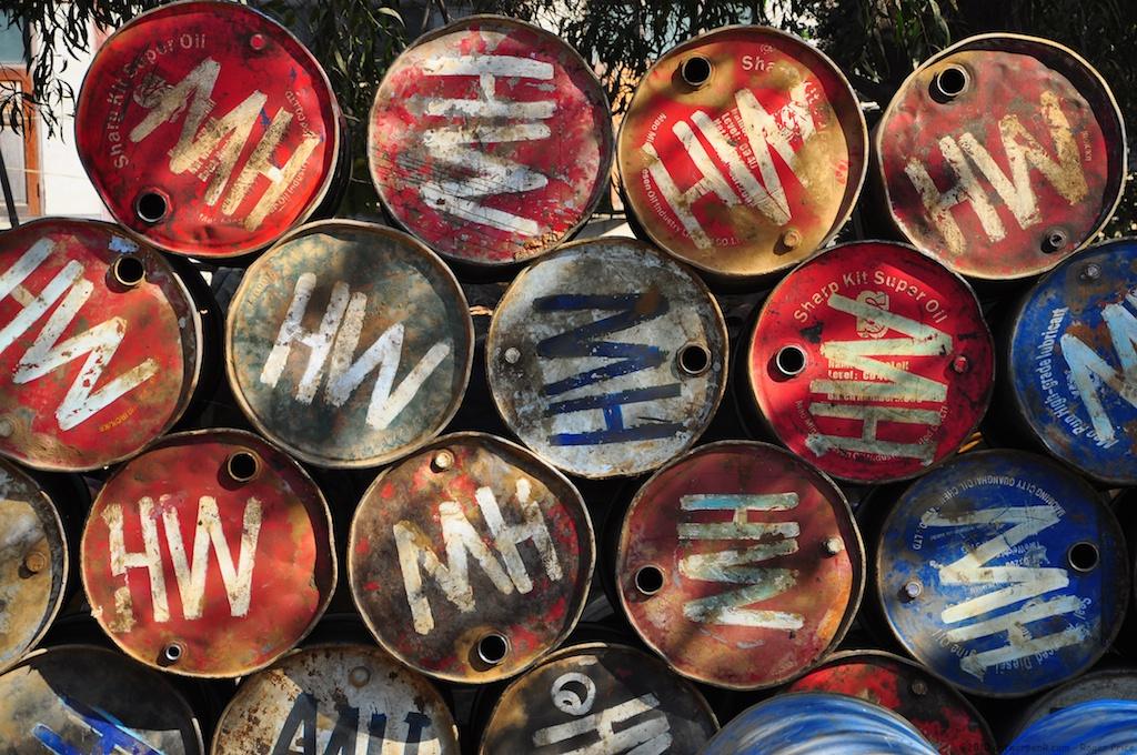 Enlarged oil barrels...
