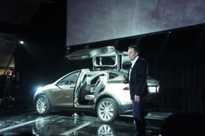 Elon Musk does the official unveil of the Model X
