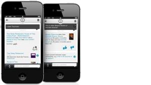 Evi running on iOS