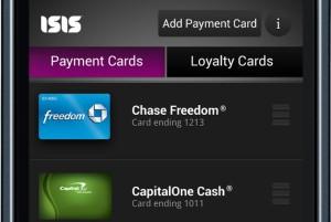 Isis Mobile Wallet screenshot
