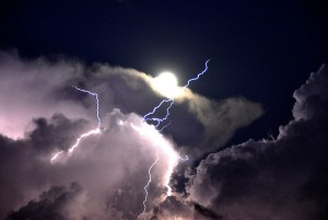 lightning clouds