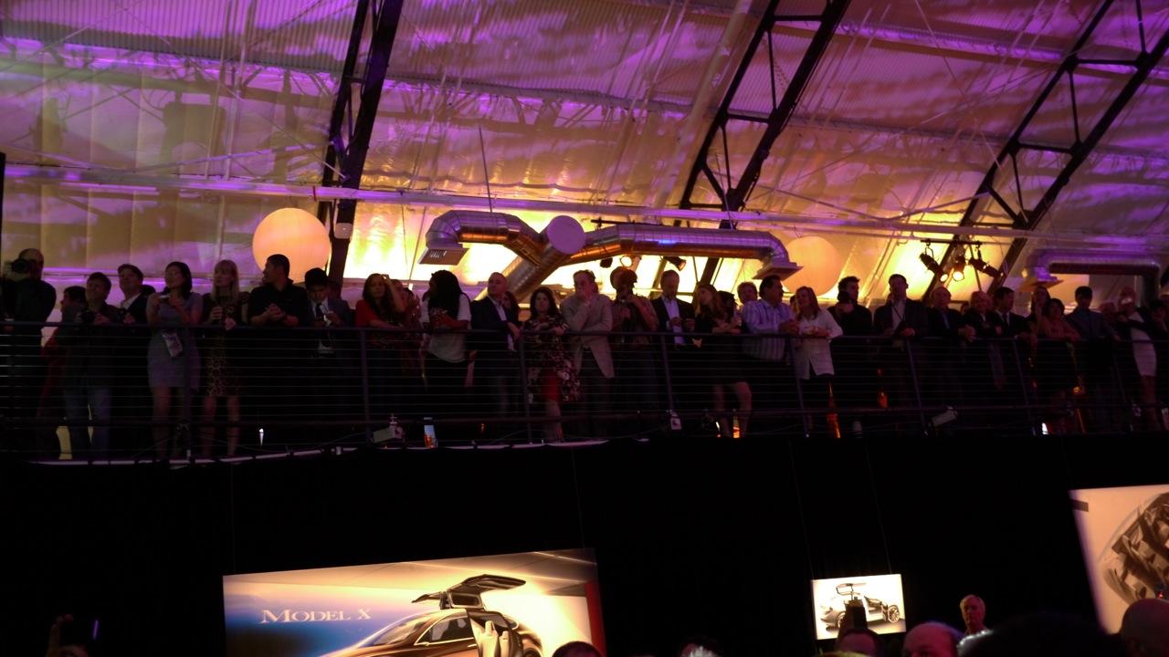 Tesla party goers