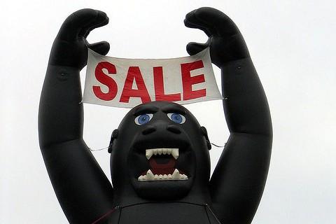 Gorilla Sale sign