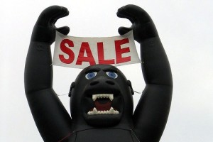Gorilla Sale sign