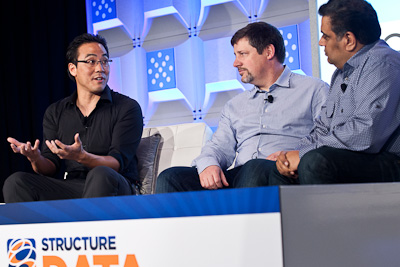 Rob Me of Pivotal Labs, Scott Yara of EMC, and Om Malik of GigaOM at Structure:Data 2012