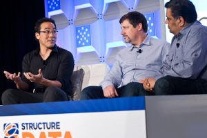 Rob Mee of Pivotal Labs, Scott Yara of EMC, and Om Malik of GigaOM at Structure:Data 2012