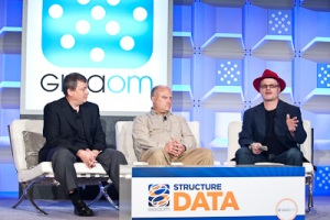 Gary Grider of HPC Division, Los Alamos National Laboratory, Garth Gibson of Panasas, and Rich Brueckner inside-BigData at Structure:Data 2012
