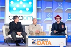 Gary Grider of HPC Division, Los Alamos National Laboratory, Garth Gibson of Panasas, and Rich Brueckner inside-BigData at Structure:Data 2012