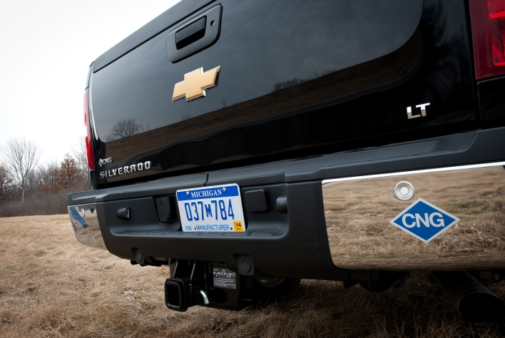 The 2013 Chevrolet Silverado that runs on gasoline and natural gas