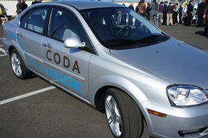 The first shipping Coda sedan