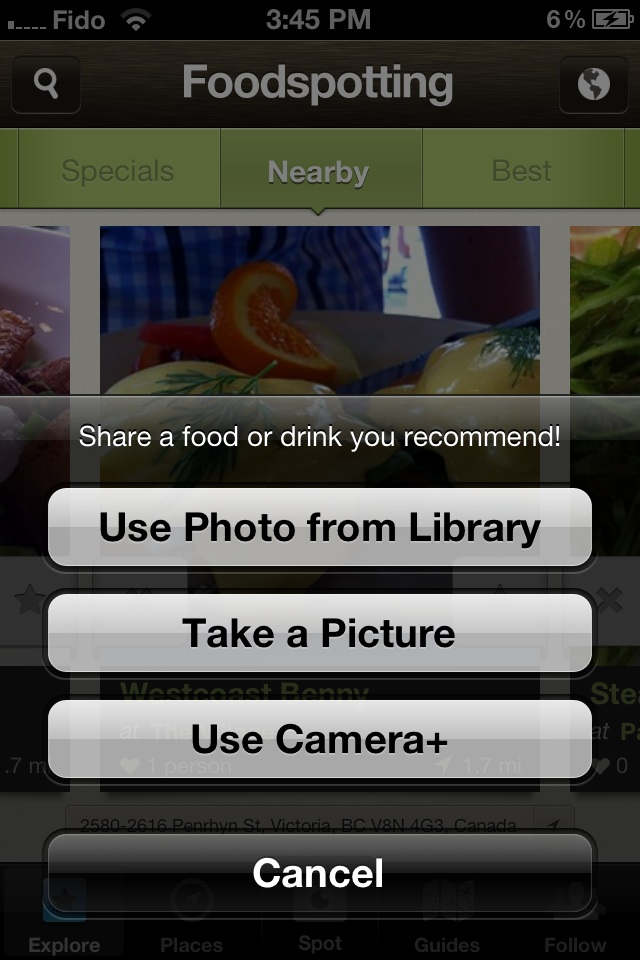Foodspotting Camera+ API