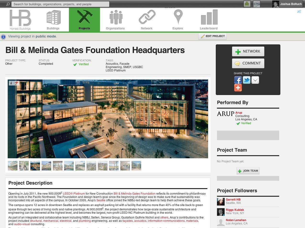 Honest Buildings Screenshot of Project Profil copy