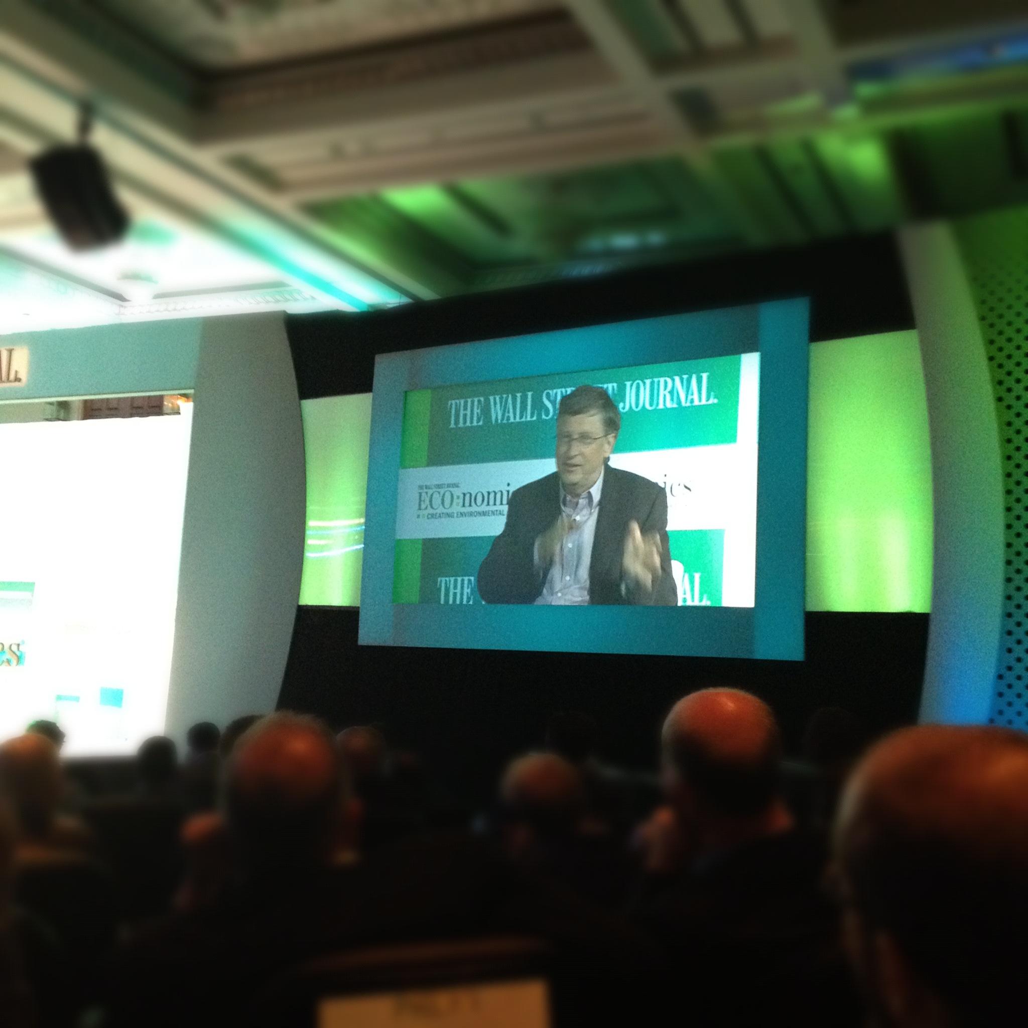 Bill Gates at WSJ Eco:nomics conference
