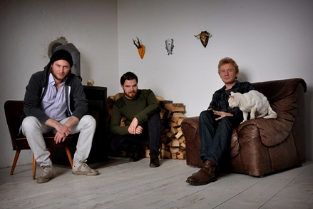 Pipe team: Marco Rydmann, Philip Eggersglüss, Simon Hossell (L-R)