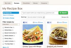 Recipe Box ZipList