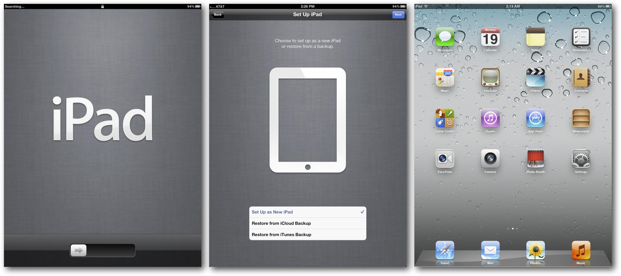 Setup New iPad
