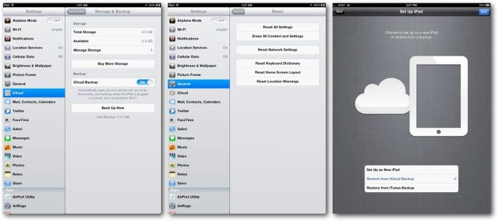 Setup via iCloud