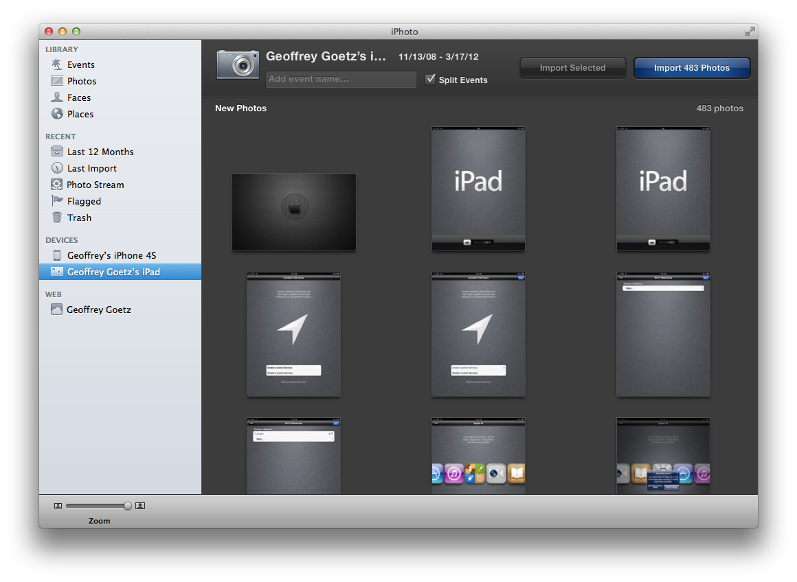 Sync with iPhoto