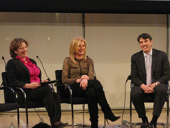 Staci Kramer, Arianna Huffington, Tim Armstrong at paidContent 2011
