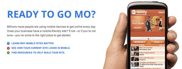 Google Go Mo feature