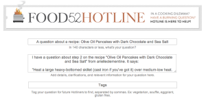 Food52 hotline template