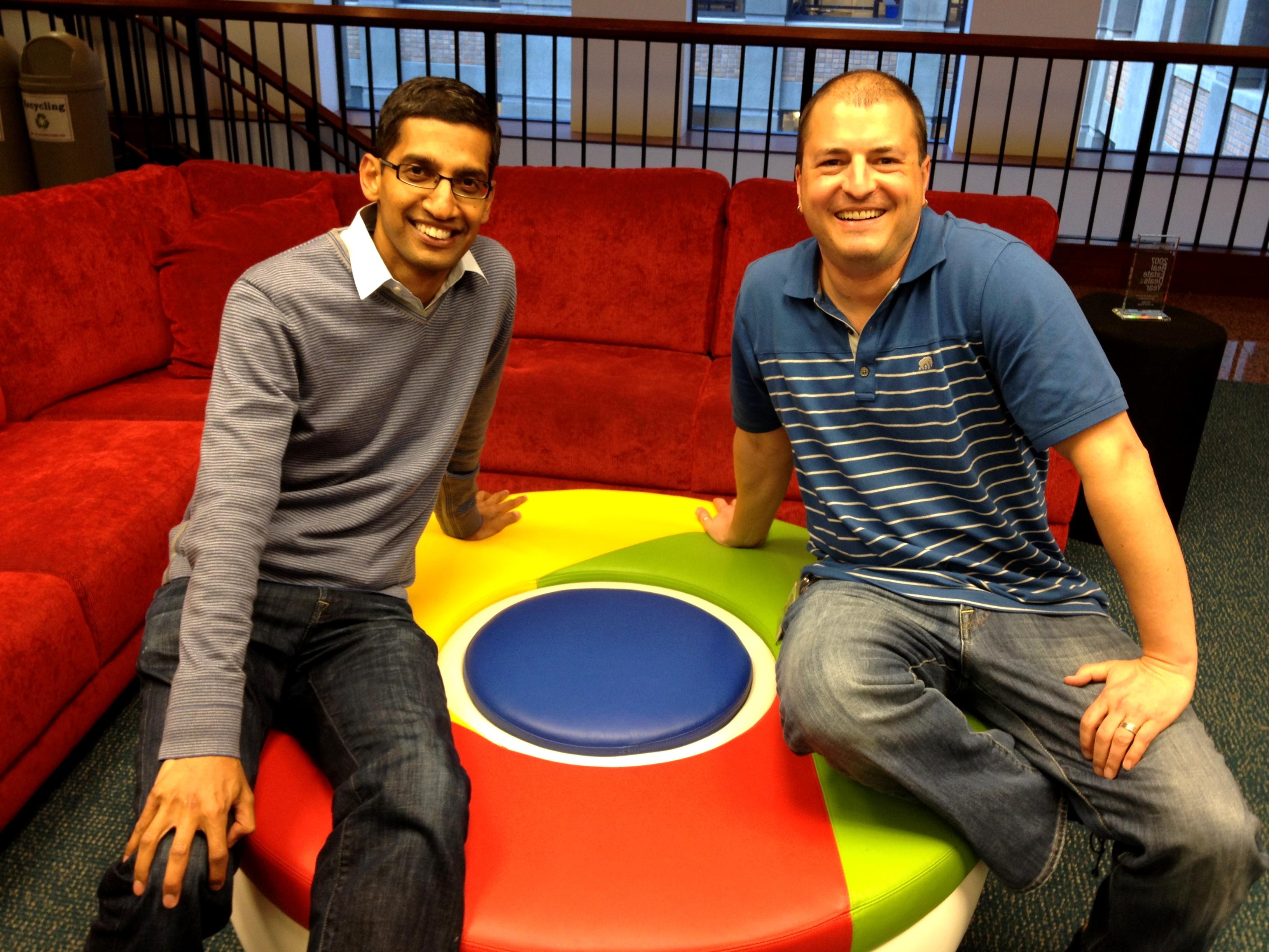 Sundar Pichai, SVP, Chrome and Apps, Google (left) and Scott Johnston, Group Product Manager, Google (right)